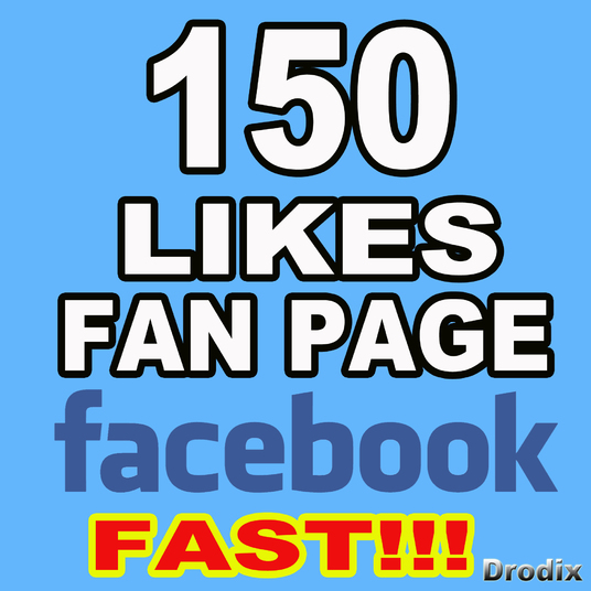 I will give you 150 Facebook Fan page likes