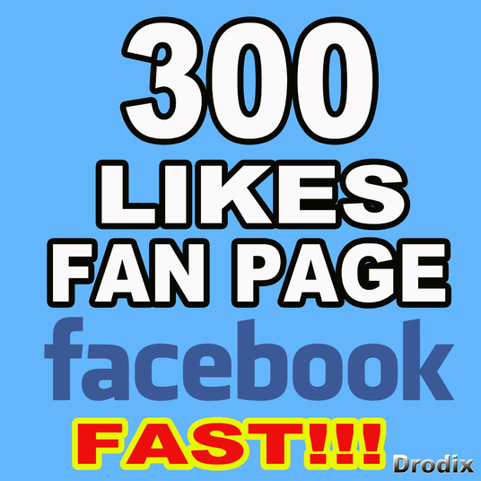 I will  give you 300 Facebook Fan page likes