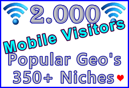 Drive 2,000 Genuine Human Mobile Visitors | Geo and Niche Targeted
