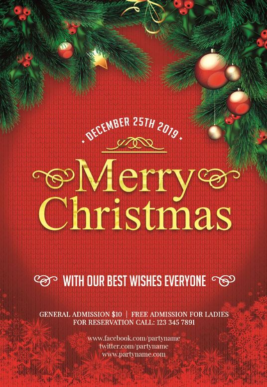 I will create a Christmas flyer poster or menu