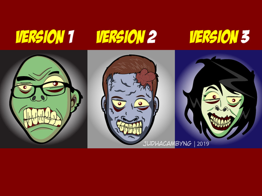 I will draw zombie face of you
