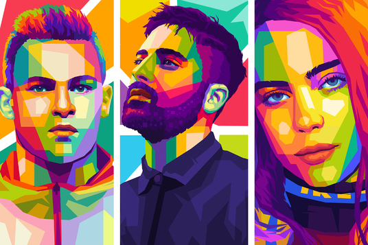 I will make colorful pop art wpap for you