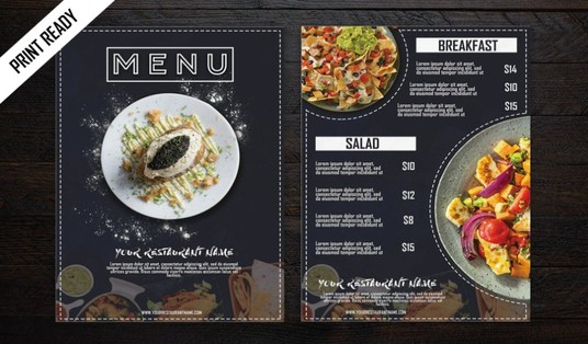 I will create a professional restaurant menu design