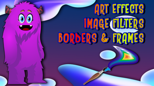 I will add art effects filters and borders to two images or photographs of your choice