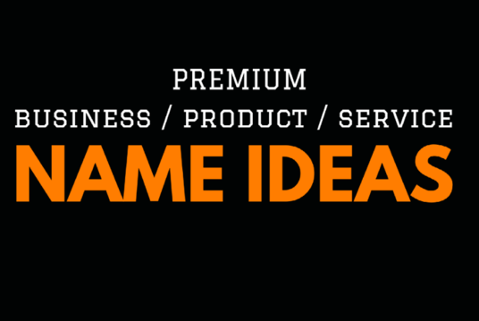 Brainstorm  5 Amazing Business Name, Brand Name, Product Name with Domain