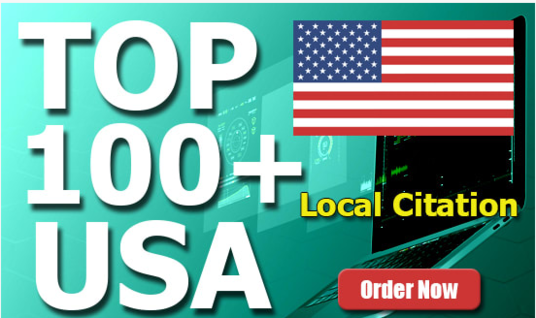 I will do 100+ Live USA Local Citations and Business Listings to get top in local searches