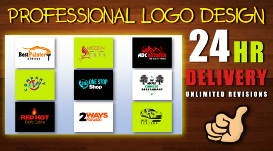 I will do professional logo design with unlimited revisions
