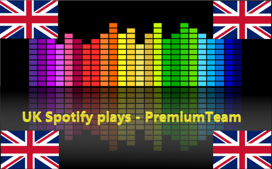 I will give 1000 United Kingdom  Spotify plays