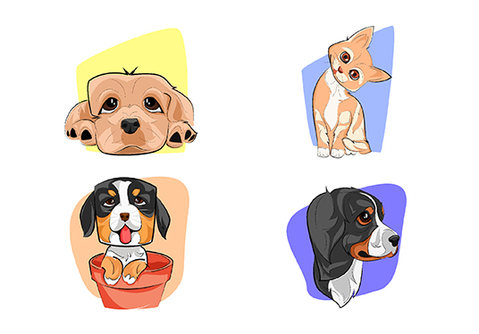 I will draw a cute cartoon of your pet within 24hrs