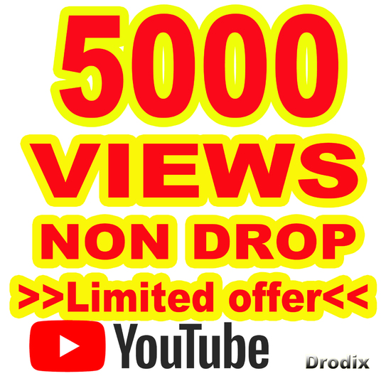 I will provide 5000 Views on YouTube - Non Drop