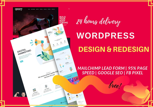 I will design or redesign Wordpress website within 24 hours