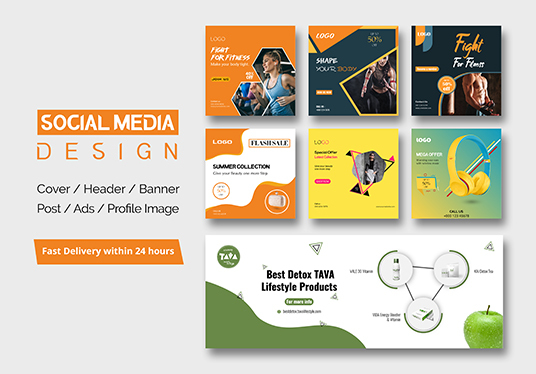 I will create amazing social media kit design within 24 hours