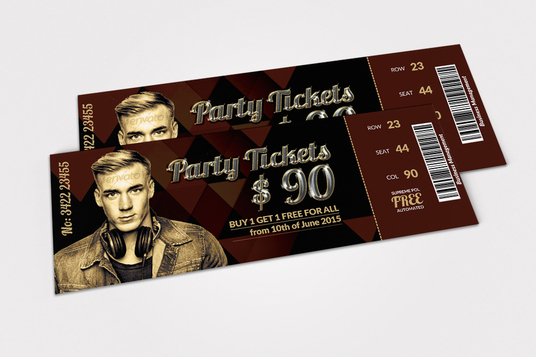 I will Design Amazing Tickets For Any Event