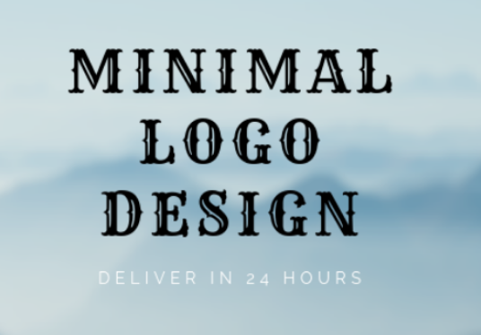 I will design 2 minimal logo in just 24 hours