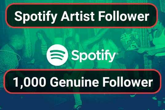 I will add 1000 Playlist Artist  Spotify followers