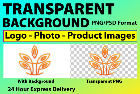 I will make logo and images transparent background png