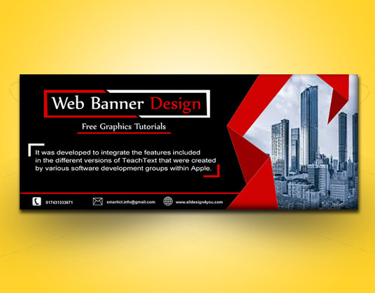 I will design amazing web banners