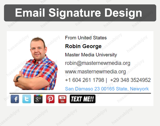 I will create clickable Html email signature for Outlook or Gmail