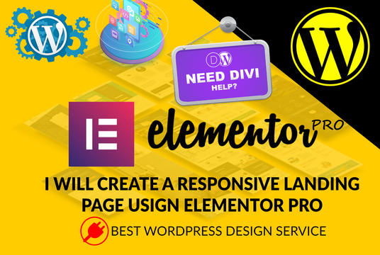 I will create a responsive wordpress landing page using elementor pro