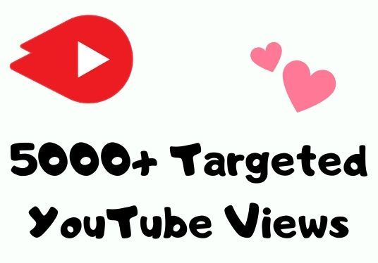 I will give 5000+ targeted youtube views