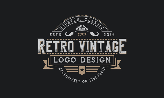 I will design awesome retro vintage logo
