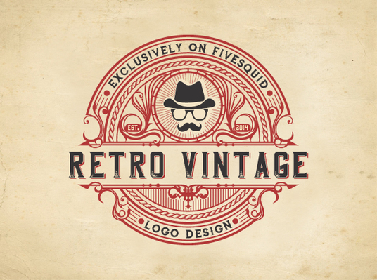 I will do retro vintage logo design