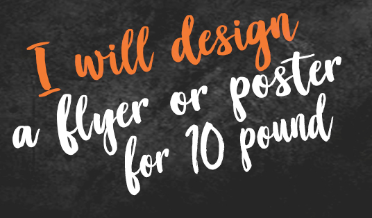 I will design you a flyer or poster in 24 hours