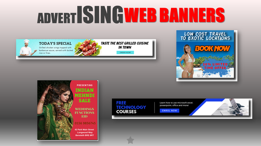 design two professional web banner advertisements