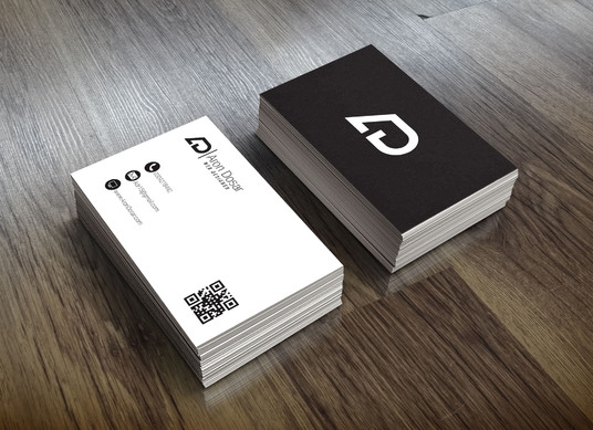 I will make modern double sided business card