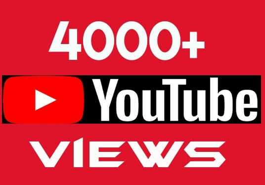 I will add 4000+ High-Quality YouTube  Views