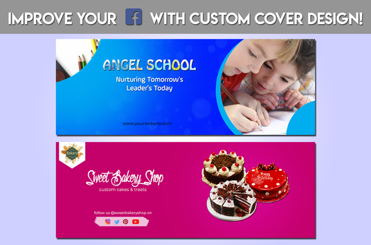 design an eye catching facebook cover or any social media cover
