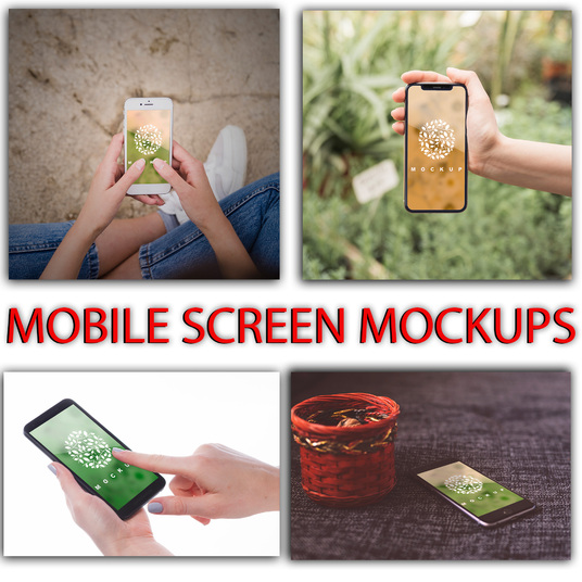 I will place your logo on mobile screen mockups