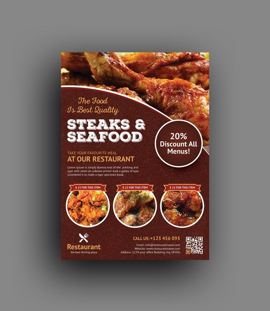 I will design restaurant and food flyer or poster