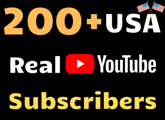 I will Provide 200+ Real YouTube Subscribers from USA to Your Youtube Channel