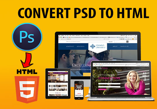 I will Convert PSD To HTML  Responsive Design