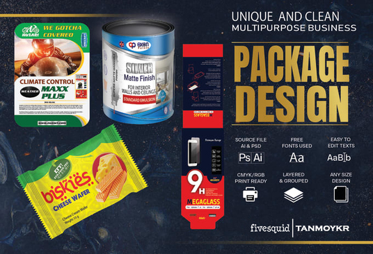I will design awesome packaging for you