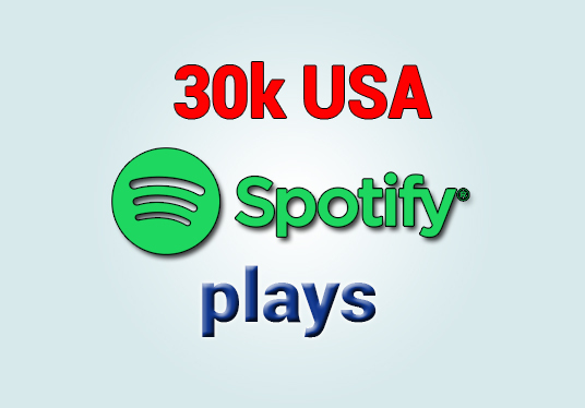 I will provide 30000 Spotify USA plays