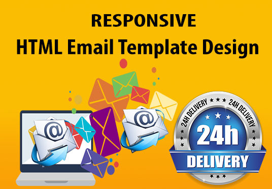 I will design responsive Email Template Within 24hour