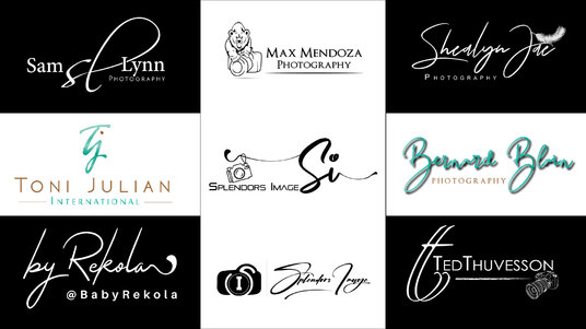 I will design a Professional signature logo or photography watermark