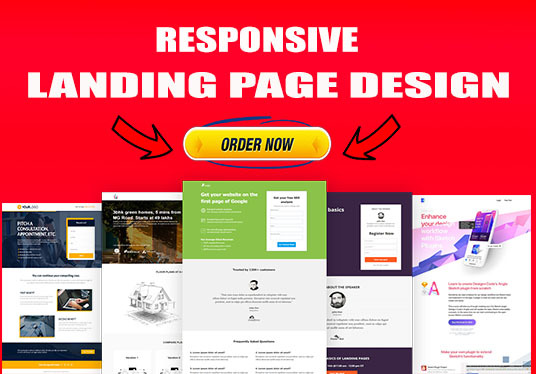 I will create responsive landing page design