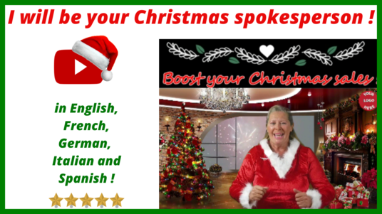 I will create your Christmas video in English, French, German, Italian, Spanish - 30 seconds vide