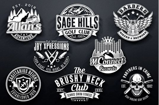 design Vintage badge logo