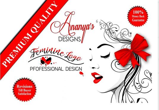 I will design professional watercolor and feminine logo