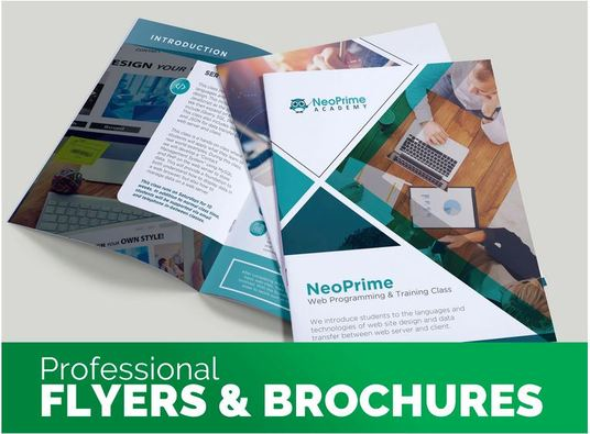 I will do brochure design or flyer design in 24 hours