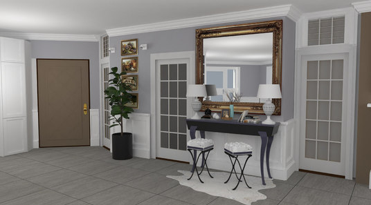 I will do the interior design in 2d or 3d for your home