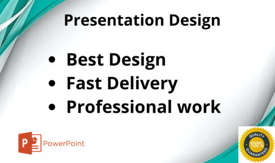 I will design a creative and superior powerpoint presentation and pitch deck for you