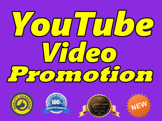 I will Give You Real Non-Drop High-Quality YouTube Video Promotion
