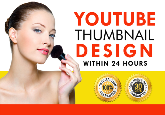 I will design catchy youtube thumbnail in 24 hrs