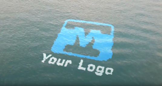 I will create realistic ocean logo water animation
