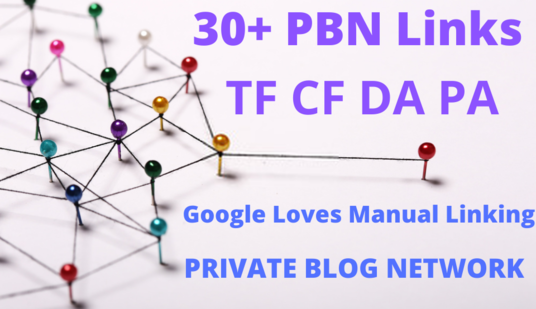 I will Create 30 Private + blog networks with articles related to PBN and indexing